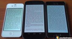 Galaxy Nexus: Bildschirmvergleich mit Samsung Galaxy S2 und iPhone 4S [Video]