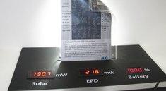 Hauchdünnes Display mit Solarzellen könnte die Zukunft der E-Reader sein