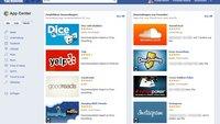 Facebook App Center: App-Empfehlungsdienst gestartet