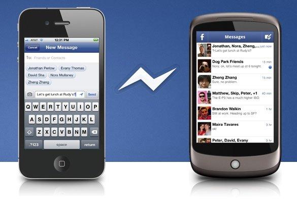 Facebook Messenger: App für FB-Gruppenchat zwischen Android und iOS