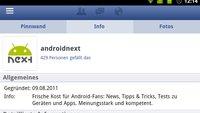 Facebook: Update macht mobile Seite hübscher als die Android-App