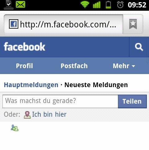 Facebook mit neuer mobiler Website