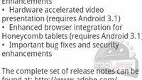 Adobe bestätigt ganz nebenbei Android Honeycomb 3.1