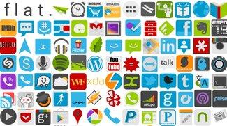 Flat Icons: Minimalistische Symbole für den Android-Homescreen