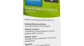 FriendCaster: Wozu die Facebook-App Berechtigung zum Lesen von Mails braucht