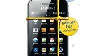 Samsung Galaxy Ace inkl. Daten-Flat für 15 Euro im Monat bei Base
