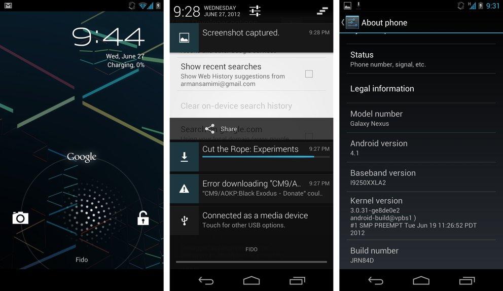 Galaxy Nexus: Android 4.1 Jelly Bean bereits verfügbar