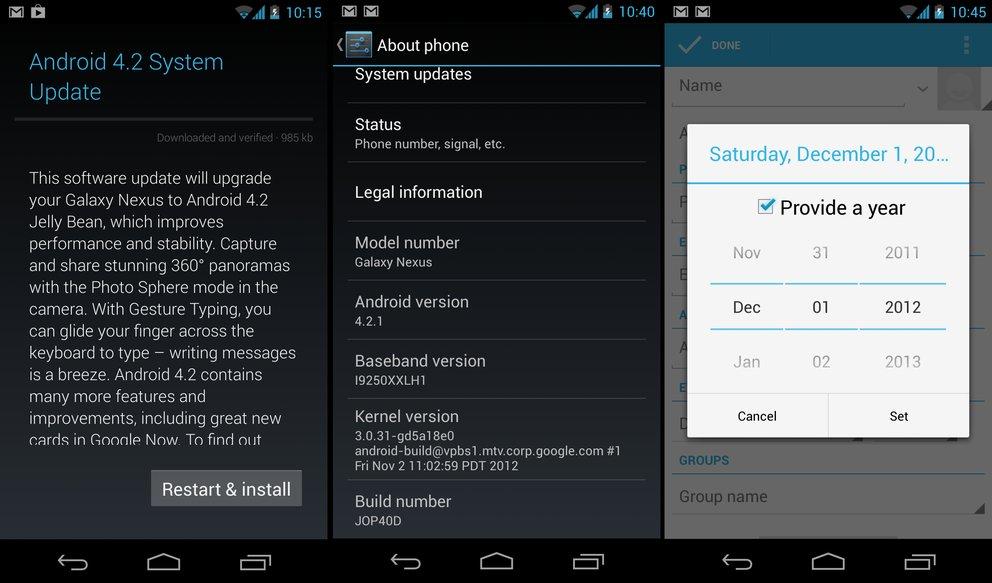 Galaxy Nexus: Android 4.2.1-Update wird verteilt