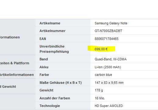 Samsung Galaxy Note: Kommt im Oktober für 699 € UVP nach Deutschland