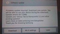 Samsung Galaxy Tab 10.1: Android 3.2-Update ausgerollt und wieder gestoppt