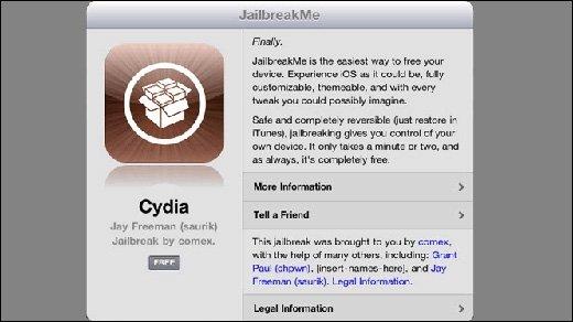 Apple - Jailbreakme.com knackt nun auch iPad 2 mit iOS 4.3.3