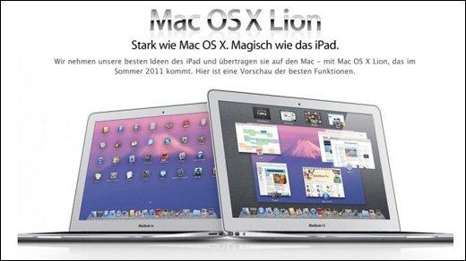 Apple - OS X Lion - Wo bleibt Apples neustes Betriebssystem