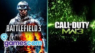 Battlefield 3 vs CoD: Modern Warfare 3 - Gamescom Kurzcheck + Video
