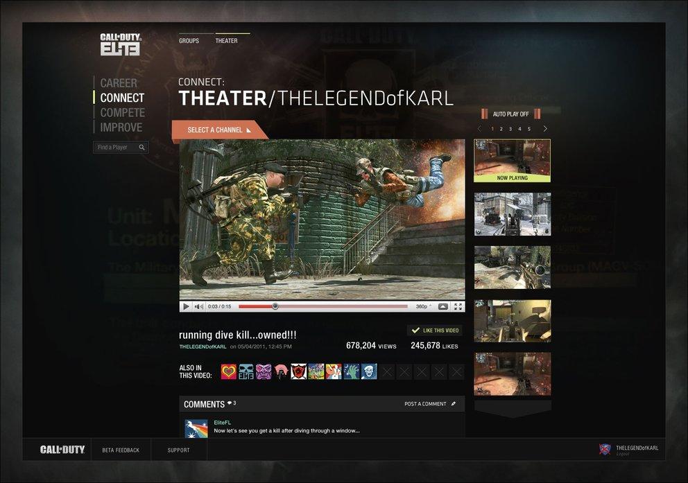 Call of Duty: Elite - Die Compete Sektion im Detail