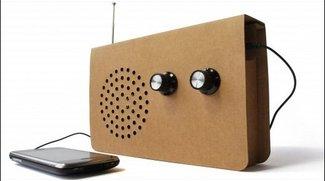 Cardboard Radio - Recyclebares Radio ist von Pappe