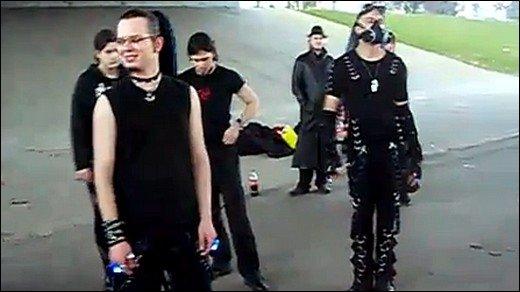 Der Flashmob des Grauens - Leipziger Goths ausser Kontrolle!