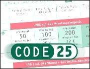 E-Plus: Sparen mit Code25