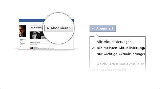 Facebook - Twitter lässt grüßen: Facebook erlaubt abonnieren von Personen