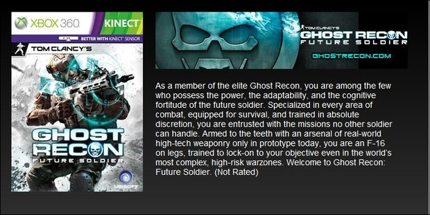 Ghost Recon: Future Soldier - Box-Art verrät Kinect Support