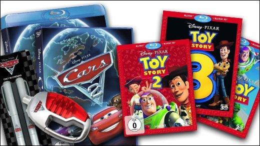 GIGA Adventskalender - 2. Dezember - 3 Pixar-Pakete (Cars 2 + Toy Story)