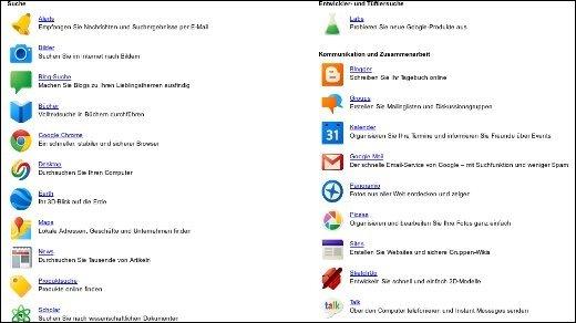 Google-Dienste - Google speckt die Services ab