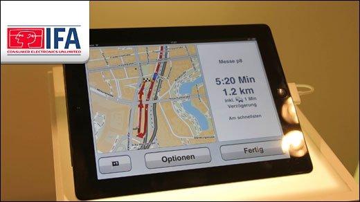IFA 2011 - TomTom Navi-App für iPad ist endlich fertig!