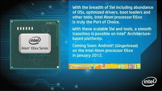 Intel Atom - Android-Unterstützung ab 2012 in Atom E6xx-CPUs