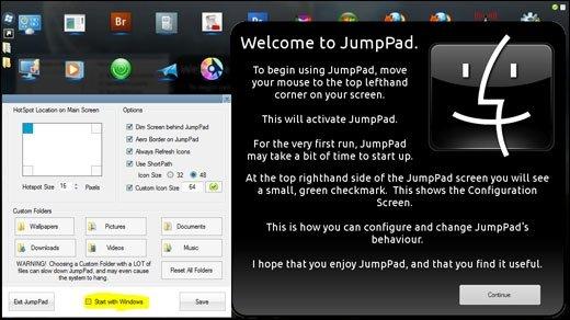 Jumppad  - Apples Mac OS X 10.7 Launchpad schon jetzt für Windows 7