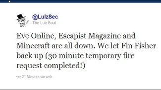 LulzSec - Hackergruppe greift Minecraft, EVE Online und League of Legends an