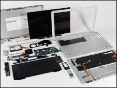 MacBook Air in Einzelteilen