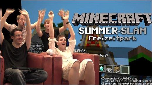 Minecraft Summer Slam - Freizeitpark - Achterbahnen, Imbiss-Stände &amp&#x3B; Warteschlangen