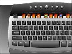 OLED-Tastatur von United Keys und Foxconn