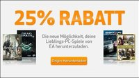 Rabatt-Gutschein - EA-Spiele mit 25 Prozent Rabatt im Origin Store
