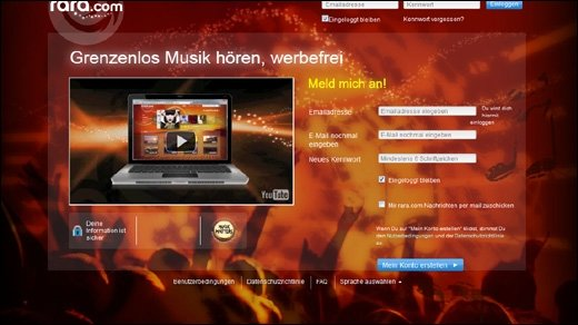 Rara.com - Neuer Musikdienst startet heute in 16 Ländern