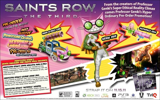 Saints Row: The Third - Trailer stellt krankes Pre-Order Pack vor
