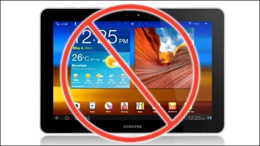 Samsung vs. Apple - Galaxy Tab 10.1: Tag 1 nach dem Verkaufsstop