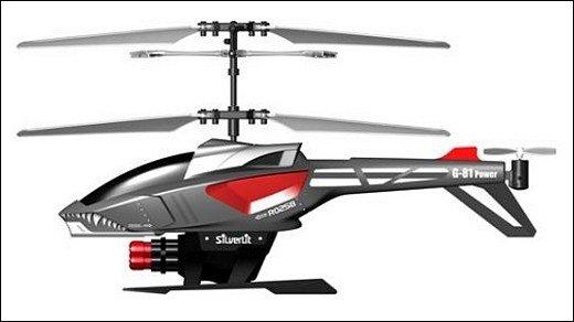 Silverlit Heli-Blaster - Modell-Hubschrauber kann Raketen abfeuern
