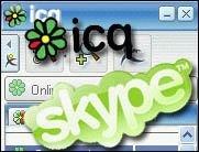 Skype und ICQ in neuen Versionen