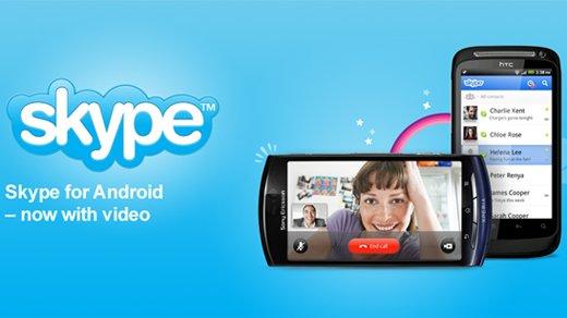 Skype - Version 2.0 für Android nun mit Video und SMS-Versand