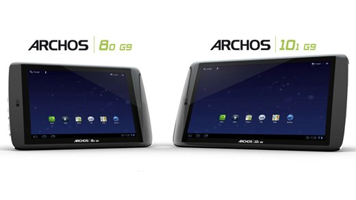 Tablet - Archos kündigt Honeycomb-Tablets mit Festplatten an