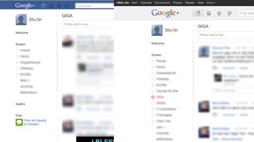 Tool - Google+ in Facebook-Look