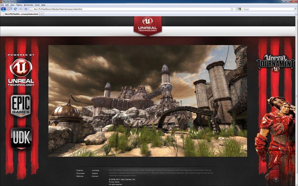 Unreal Engine 3 - Epic kündigt Support für Flash Player an