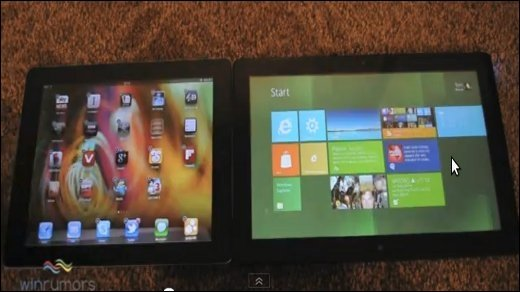 Windows 8 vs iOS 5 - Video: Beta-Versionen gegenüber gestellt