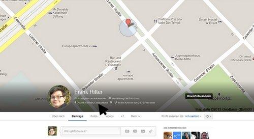 google plus location