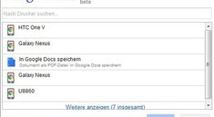 Google Cloud Print: Dokumente als PDF an Chrome für Android senden