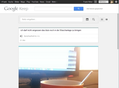 google keep desktop