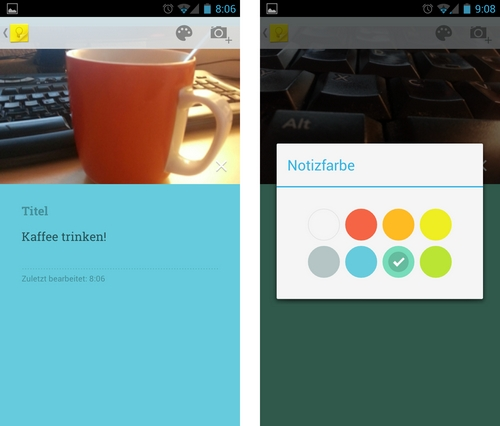 Google Keep: Foto hinzufügen & Pastellfarben