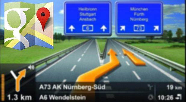 Google Maps: Hinweise auf 3D-Navigation und Spurinformationen