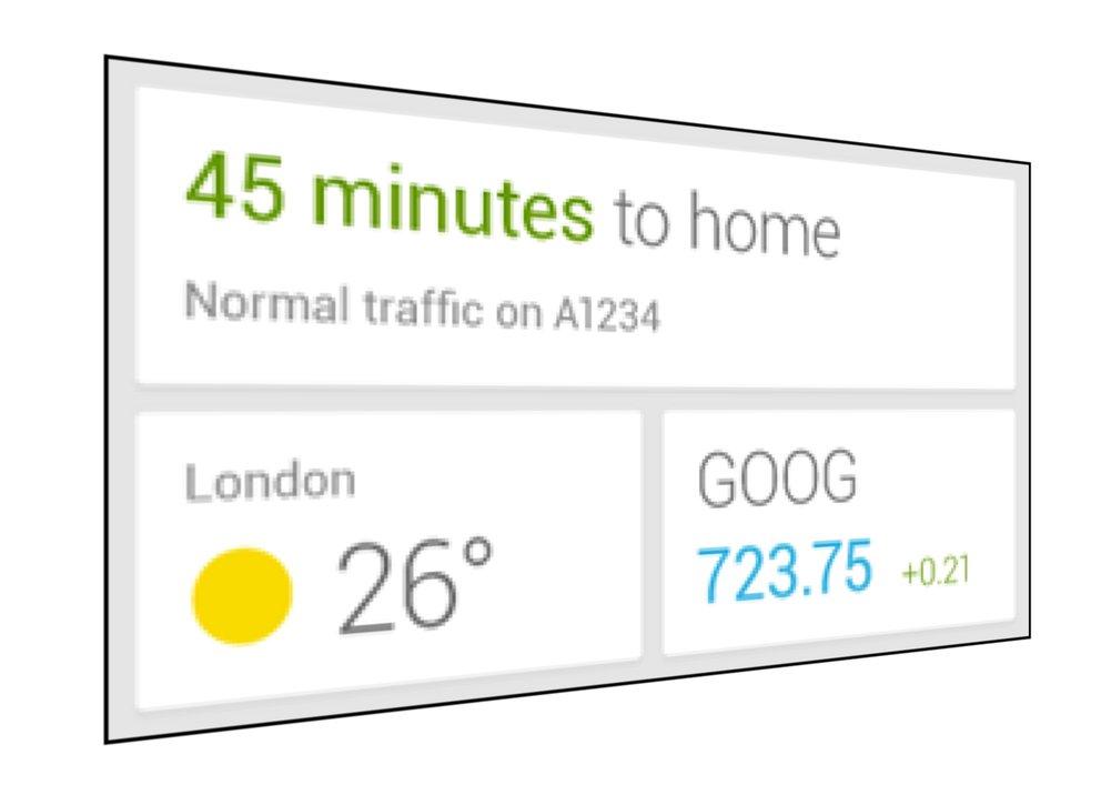 Google Now: Hinweis auf Widget aufgetaucht