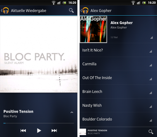 Google Play Music Android App Screenshot
